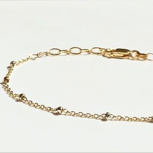 By Love _K Design Jewelry - 14KGF Faceted Beads Chain Bracelet